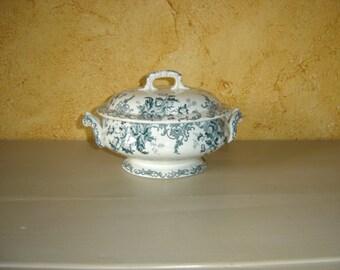 Petite soupière ancienne céramique. Saint Amand ou Orchies ou Onnaing. Vintage France.