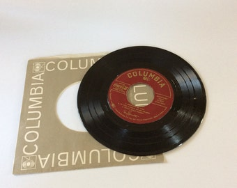 1952 Tony Bennett 45 Record - Vintage Vinyl - Coca Cola Ad - Tony Bennet - Because of You - Tony Bennet Columbia EP