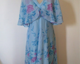 70s beautiful light blue dress.