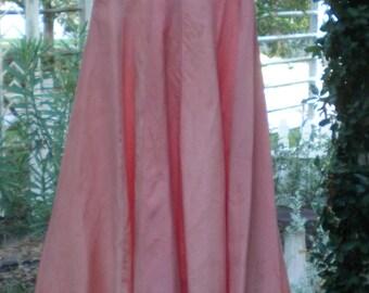 1930's Peach Taffeta Dress