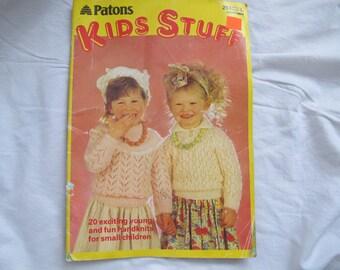 Patons Kids Stuff / 20 knitting patterns for children / Children's knitting patterns