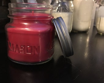 8oz scented soy candle