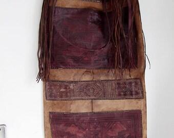 Tassoufra-tessoufra, Camel rider/Mehariste's saddle bag for camels in Mauritania, Sahara, african desert, traditionnal north african art