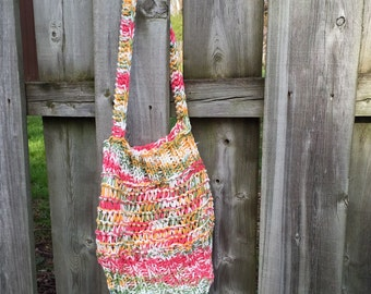 Knitted Purse, Knitted Bag, Market Bag