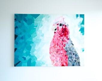 ORIGINAL Pink Galah Painting 120 x 90