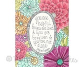 Inspirational quote - John Green Quotes - watercolor- motivational quote