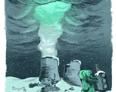 Nuclear Winter Limited Art Print - Nuclear Power Plant 8.5x11 Giclee Print