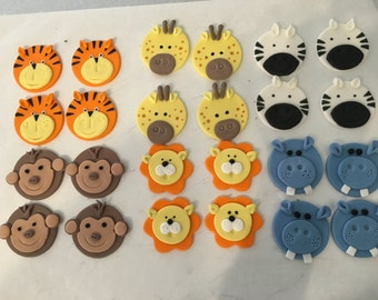 Set of 24 Animal cupcake toppers