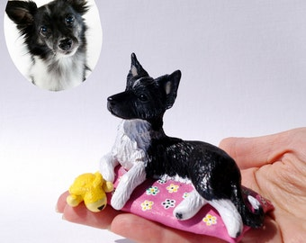 Custom dog figurines  made in polymer clay - miniature figurine of your Dog by Vell Vett - please note there is a waiting list.
