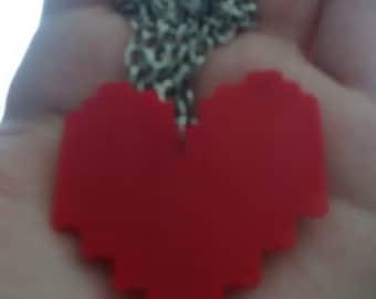Undertale Soul Heart Necklace Sets