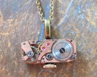 17 Jewel Vintage Watch Movement Pendant