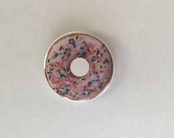 Sprinkle Donut Pinback Button