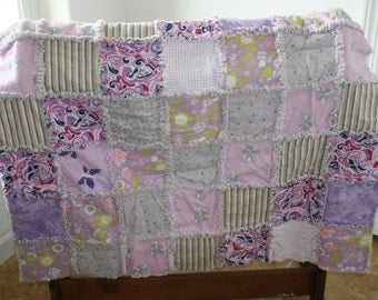 Lovely Lavender Flannel Rag Quilt