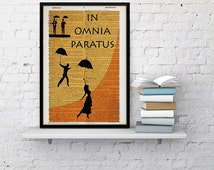 IN OMNIA PARATUS poster gilmore girls dictionary print, gilmore girls poster, lorelai art, rory gilmore art home wall decor vintage poster