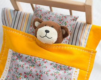 "Pure cotton doll bedding, doll blanket, doll bed mattress, doll bedding set, doll crib bedding, baby doll bedding, 15"" bedding, gift girl"