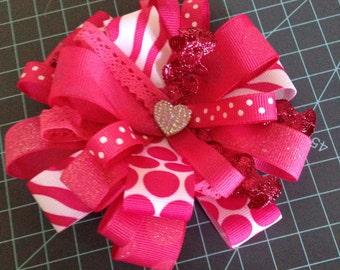 Pink burst bow