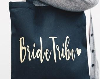 Bride Tribe Tote Bag | Bridesmaid bag, canvas bag, bridesmaid gift, maid of honor, mother of bride, personalized bag, wedding favor