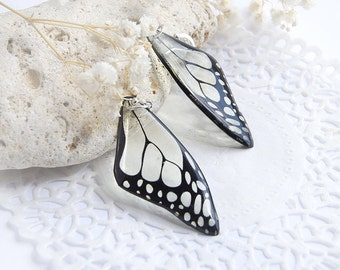 Monochrome earrings|for|women gift|for|coworker gift Butterfly wing earrings contrast jewelry everyday earrings Contemporary jewelry|for|her