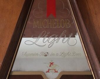 Michelob Light bar mirror sign