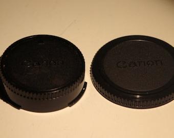 Genuine Canon FD Body and Rear Lens Cap Set
