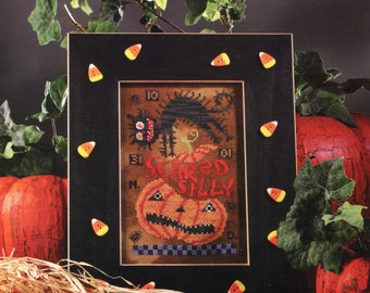 Birds of A Feather ** SCARED SILLY ** Halloween cross stitch pattern