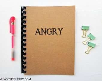 JOURNALING GYPSY-ANGRY- One Word Art- Thought- Journal