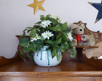 Silk greens arrangement, Mixed plants and flowers, Silk Plant, Silk potted plant