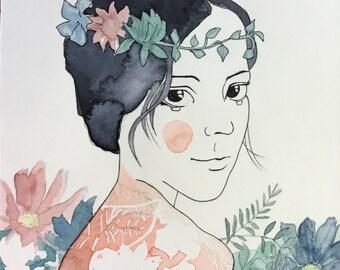 Spring - original illustrations, posters
