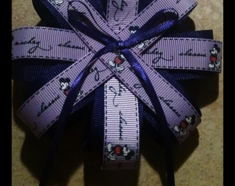 Mickey Mouse purple hair bow