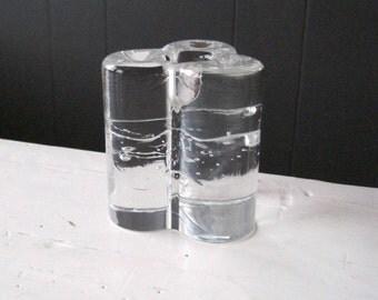 Iittala ARKIPELAGO Glossy Glass Candlestick Holder Design by Timo Sarpaneva for Iittala of Finland, Vintage Finnish Art Glass Candle Holder