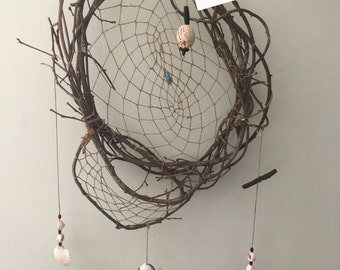 Natural Materials Handmade Dreamcatcher with seashells
