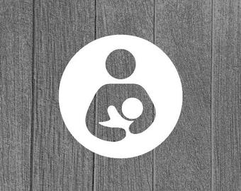 International Breastfeeding Symbol advocacy adhesive decal