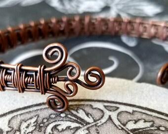 Copper Cuff, Cuff Bracelet, Wire Cuff, Copper Cuff Bracelet