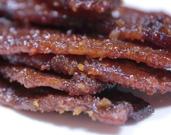 Applewood Maple Bacon, 8 ounce, Bacon Jerky, Father's Day Gift, Smoked Bacon Jerky, Gifts for Dad, Artisanal Jerky, Free Shipping