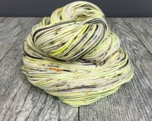 Chicken Ramen - Hand Dyed Speckled Sock or Fingering Weight Yarn, Superwash Fine Merino Wool Nylon Blend, 4-Ply, Socka-Wocka Base