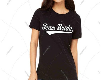 "Women - Girls - Premium Retail Fit ""Team Bride"" 2016 Crew-neck Tee, T-Shirt (S,M, L, XL)"