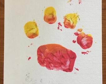 Kate Color Paw Print