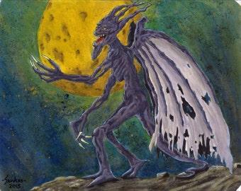 Fantasy Winged Demon, Art Print