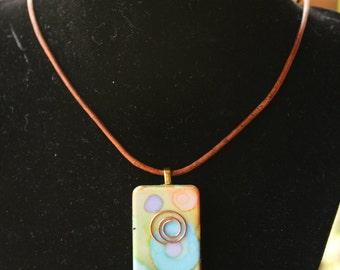 Multi-colored (light) Domino Necklace (N-03)