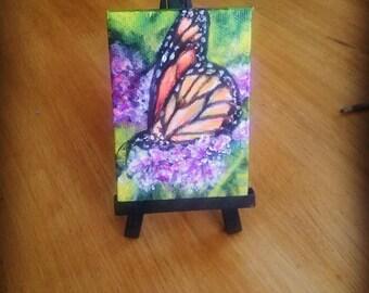 Butterfly purple flowers