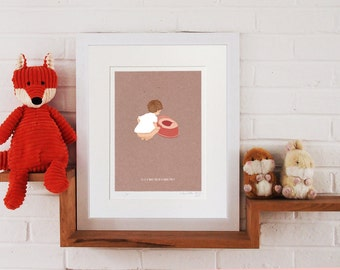 Little Lellow Limited Edition Art Print Collection 'Potty training'