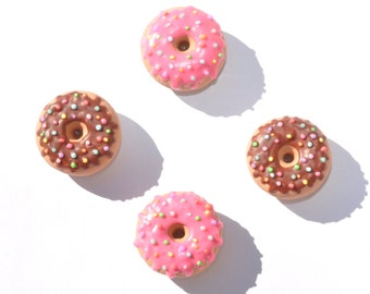 Cute Clay Donut (Doughnut) Magnets - 4 donut magnet