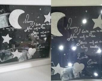 love you to moon shadow box