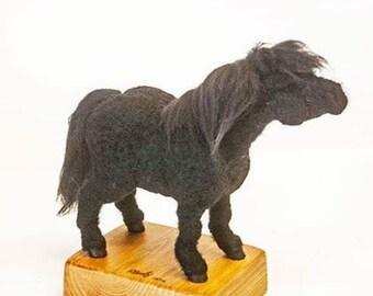 """OOAK """"Shetland Pony"""" 2016 mixed media, needle felted sculpture"""