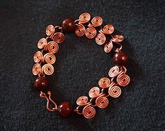 """Copper bracelet """"spiral"""""""