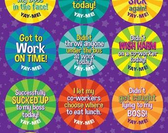 Yay-Me Adult Reward Stickers - WORK