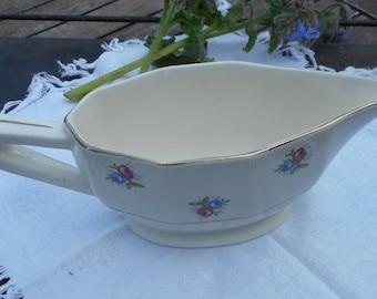 Gravy boat in Digoin porcelain, french vintage