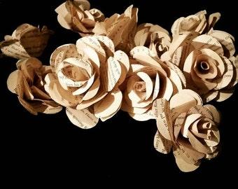 1/2 Dozen Handmade Paper Rose Scatters