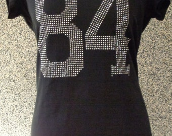 T-Shirt with strass number 84