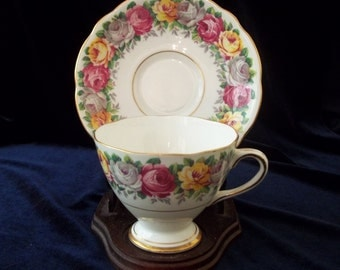 """Tea Cupsand Saucer Gladstone """" Rosemary """" Made in England"""